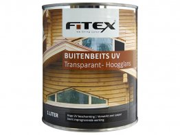Fitex Buitenbeits Uv Hoogglans 1L Transparant.